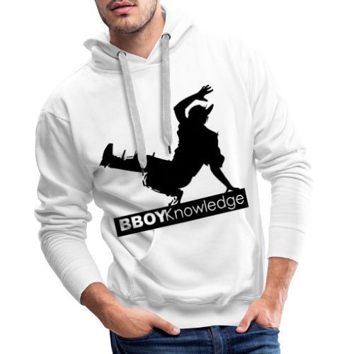 Bboy knowledge noir & blanc - Sweat-shirt à capuche Premium pour hommes