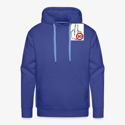 Doigt Coeur - Sweat-shirt à capuche Premium pour hommes