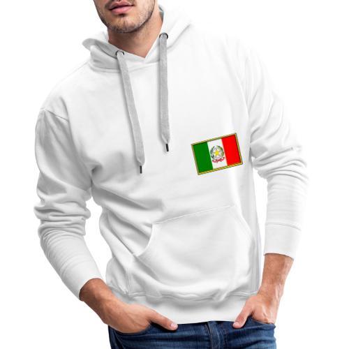 Bandiera Italiana - Felpa con cappuccio premium da uomo
