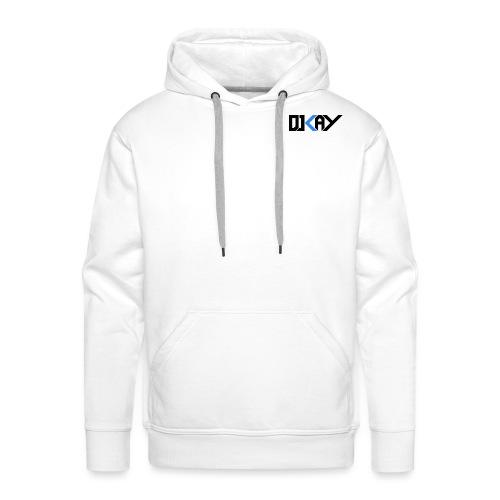 DJ KAY noir transparent - Sweat-shirt à capuche Premium pour hommes