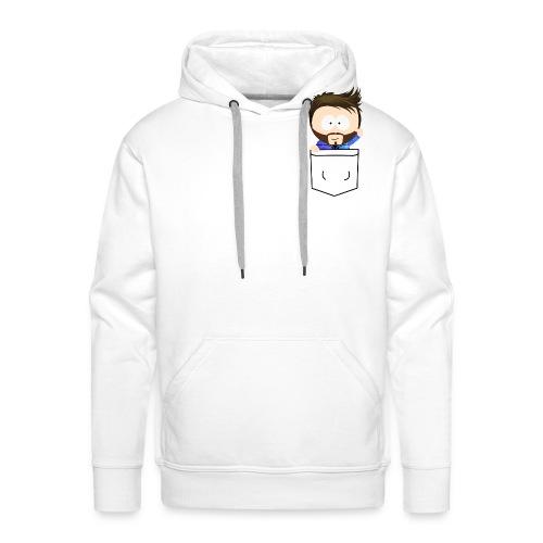 Pixel Silvio Brusttasche - Männer Premium Hoodie