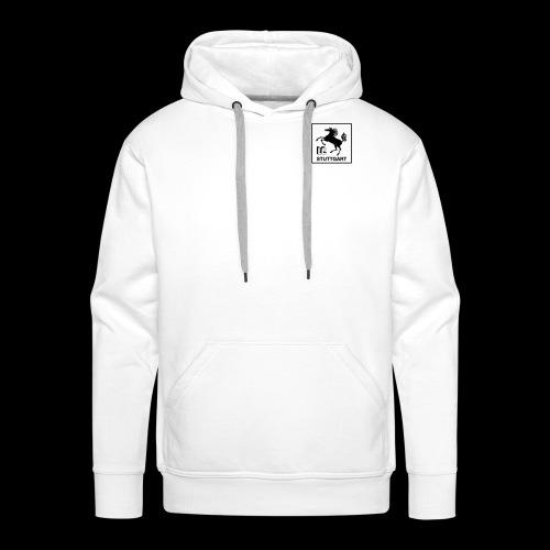 LC Stuttgart Logo quadratisch schwarz - Männer Premium Hoodie