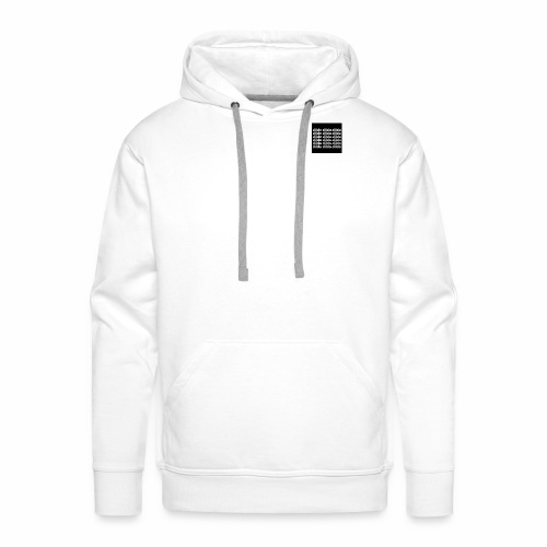 Dildo white on black - Männer Premium Hoodie