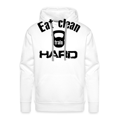 Eat Clean Train Hard - Kettlebell - Men's Premium Hoodie