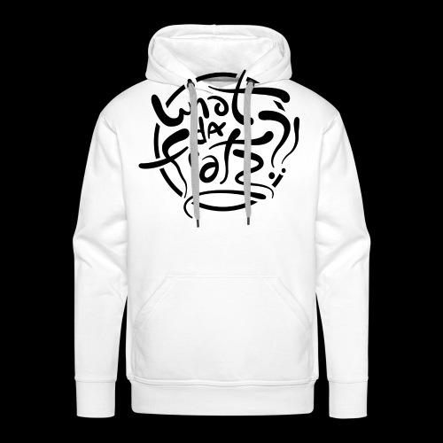 WDF LOGO ZWART - Mannen Premium hoodie