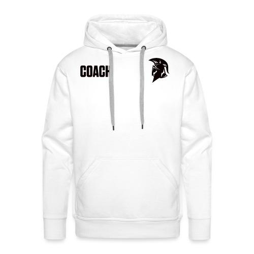 Coach Oberbekleidung Weiss - Männer Premium Hoodie