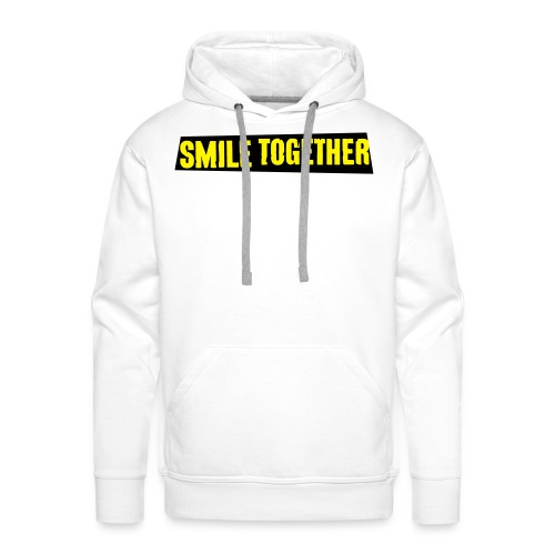 Smile Together Yellow Black - Men's Premium Hoodie