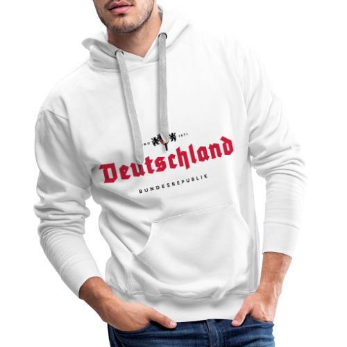 Deutschland beerlabel - Sweat-shirt à capuche Premium pour hommes