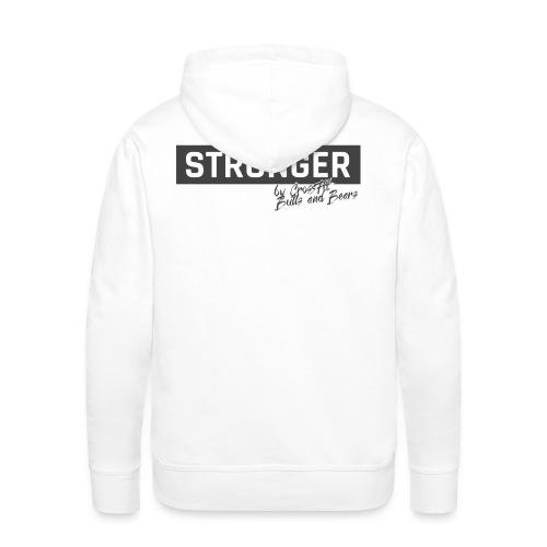 STRONGER - grey - Männer Premium Hoodie