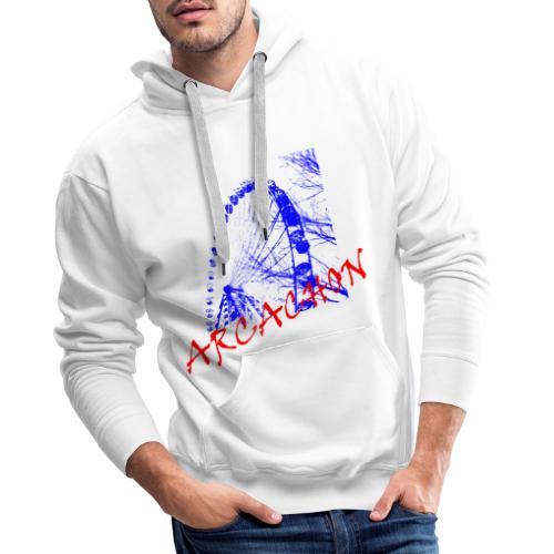 Grande roue Arcachon - Sweat-shirt à capuche Premium pour hommes