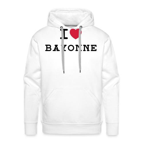 ilovebayonne - Sweat-shirt à capuche Premium pour hommes