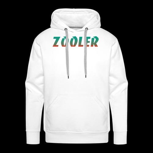 Zooler BANCO orange and green - Sweat-shirt à capuche Premium pour hommes