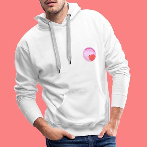 minimal world logo - Felpa con cappuccio premium da uomo