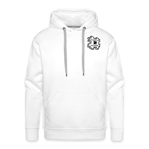 uV Logo White 2-seitig - Männer Premium Hoodie
