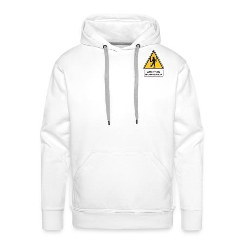 manipulation - Sweat-shirt à capuche Premium pour hommes