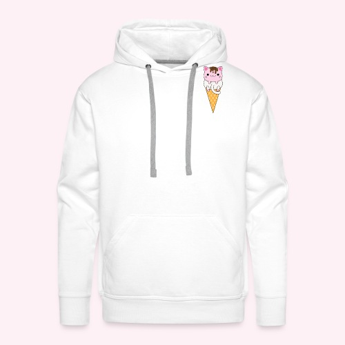 Cat Cream - Vanilla + Strawberry - Men's Premium Hoodie