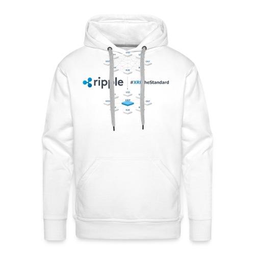 XRPthestandard koszulki,bluzy,damskie,męskie. - Bluza męska Premium z kapturem