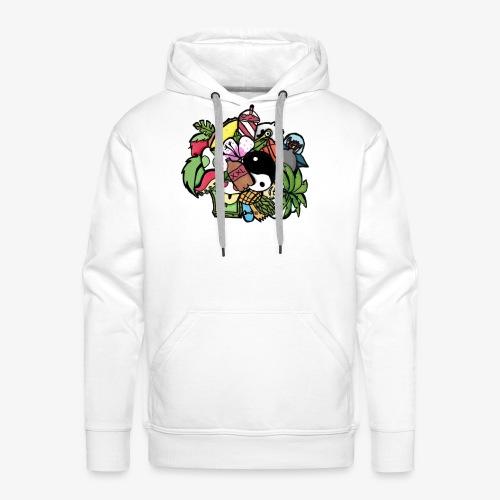 doodle art - Sweat-shirt à capuche Premium pour hommes