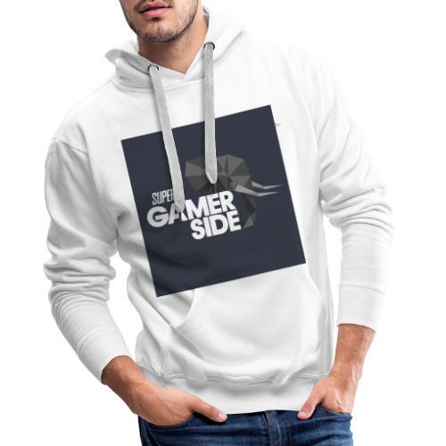 Super gamerside square - Sweat-shirt à capuche Premium pour hommes