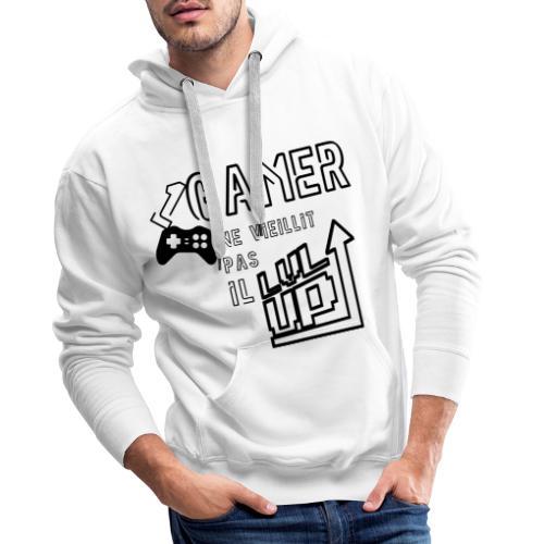 Gameur Manette Black - Sweat-shirt à capuche Premium pour hommes