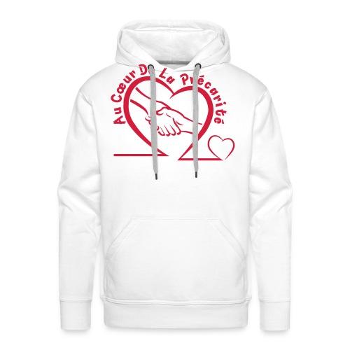 logo acdlp vetement blanc petit - Sweat-shirt à capuche Premium pour hommes