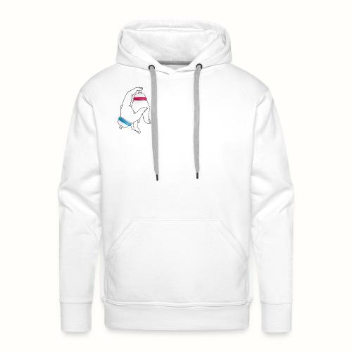 Graffiti Hand bomb - Sweat-shirt à capuche Premium pour hommes