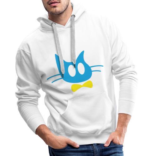 Frisse Kater Mascotte - Mannen Premium hoodie