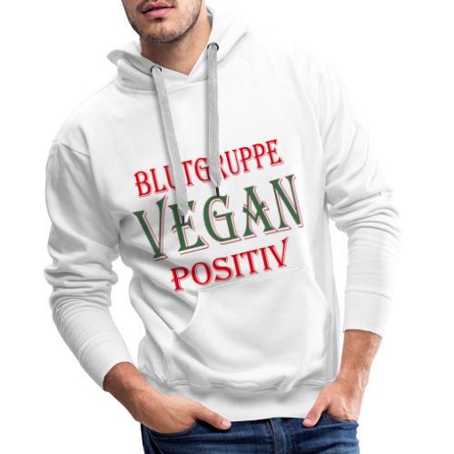 BLUTGRUPPE VEGAN POSITIV - Männer Premium Hoodie