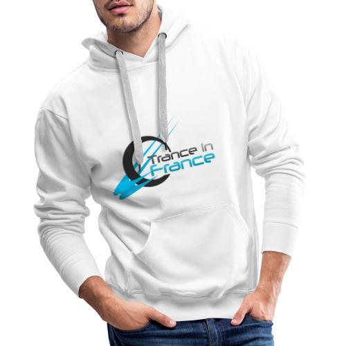Trance In France White - Large Logo - Sweat-shirt à capuche Premium pour hommes