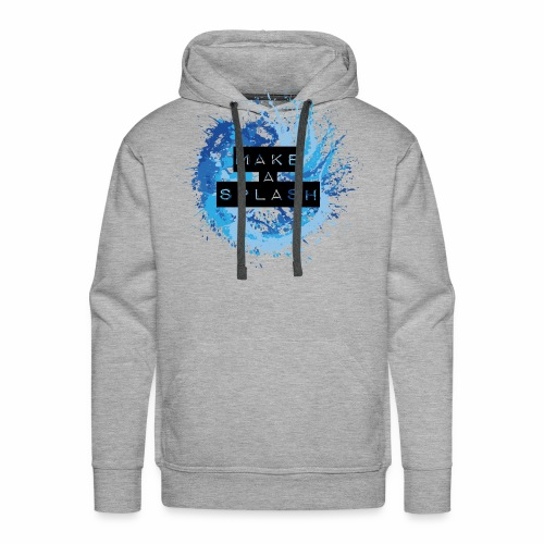 Make a Splash - Aquarell Design in Blau - Männer Premium Hoodie