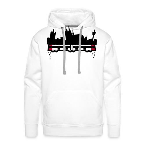 koeln 2011 v2 whiteshirt4 - Männer Premium Hoodie