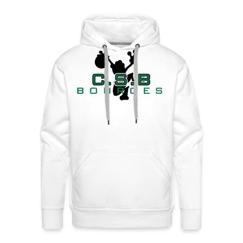 logo csb air csb pour fond blanc petit - Sweat-shirt à capuche Premium pour hommes