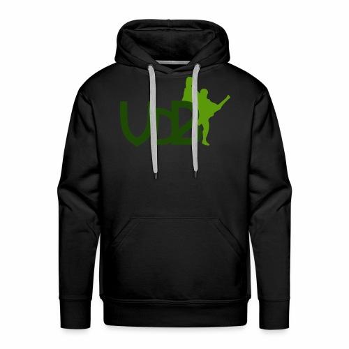 VdB green - Felpa con cappuccio premium da uomo