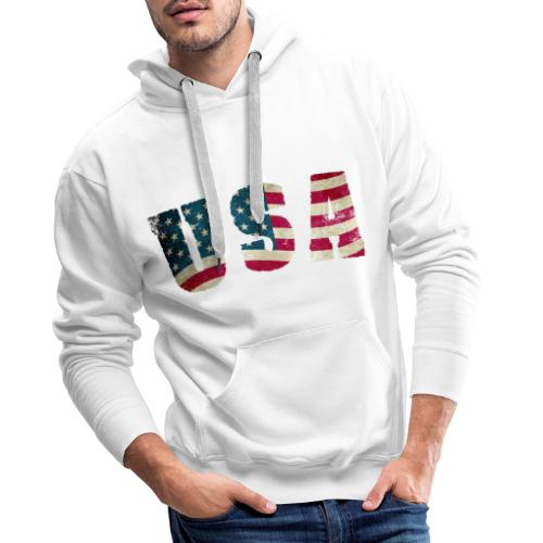 USA - Sudadera con capucha premium para hombre