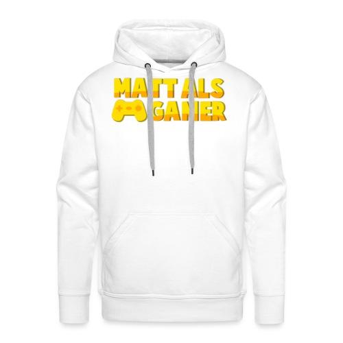 Matt Als Gamer Logo - Mannen Premium hoodie