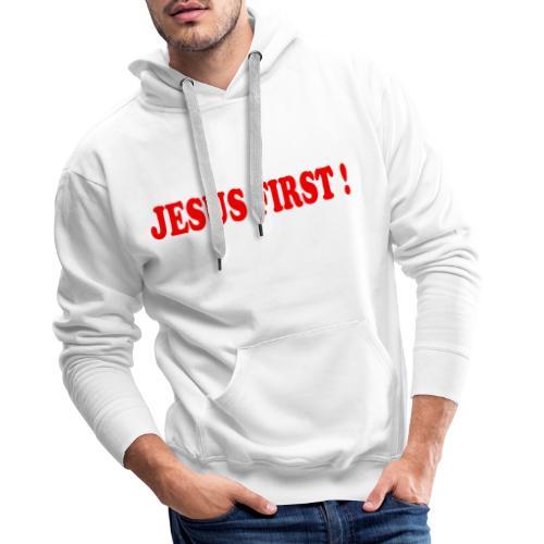 jesus first - Sweat-shirt à capuche Premium pour hommes