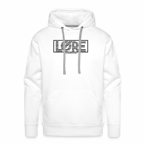 ''Lore'' Logo Zwarte Strepen - Mannen Premium hoodie