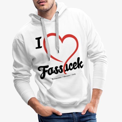 I Love Fossacek - Felpa con cappuccio premium da uomo