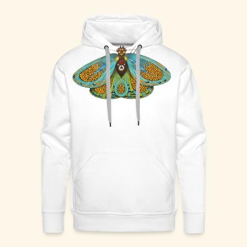 Psychedelic butterfly - Felpa con cappuccio premium da uomo
