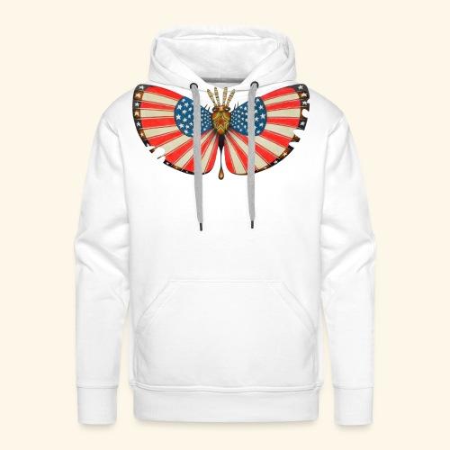 patriot moth - Felpa con cappuccio premium da uomo