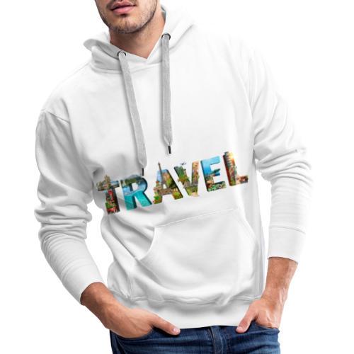 TRAVEL WORD - Sudadera con capucha premium para hombre