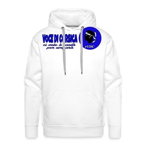 Voce di Corsica logo 1 - Sweat-shirt à capuche Premium pour hommes