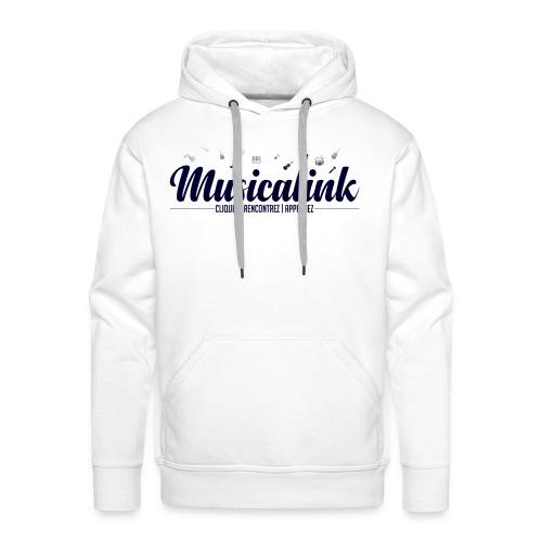 Musicalink blue - Sweat-shirt à capuche Premium pour hommes