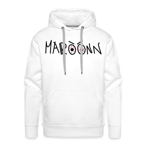 Maroonn white tee - Felpa con cappuccio premium da uomo