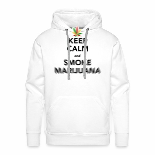 Keep Calm and smoke maruuana - Bluza męska Premium z kapturem