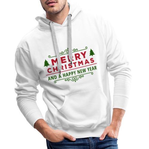 merry christmas, christmas present, christmas tree - Men's Premium Hoodie