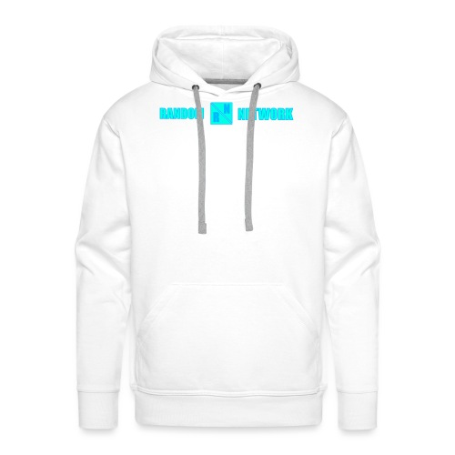 RandomNetwork White Hoodie (Design 2) - Mannen Premium hoodie