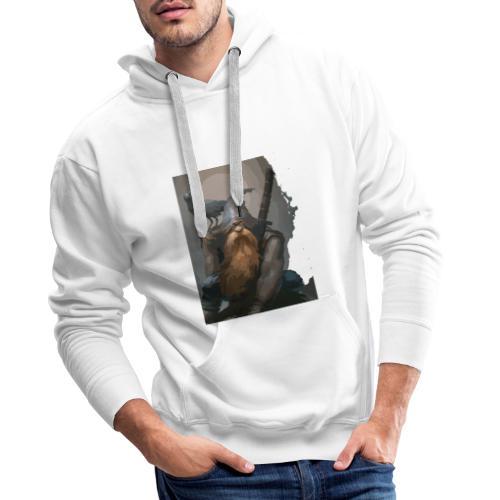 gárgola fantasía - Sudadera con capucha premium para hombre