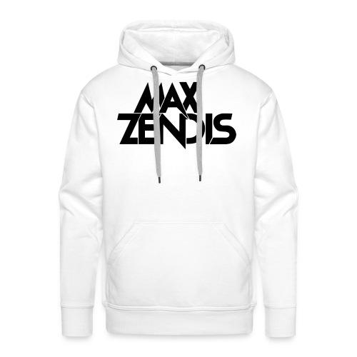 MAX ZENDIS Logo Big - White/Black - Männer Premium Hoodie