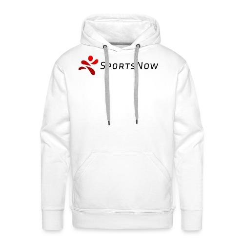 SportsNow-Logo mit schwarzer Schrift - Männer Premium Hoodie